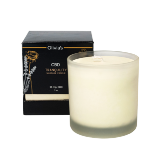 Olivia's 25 mg CBD Massage Candle